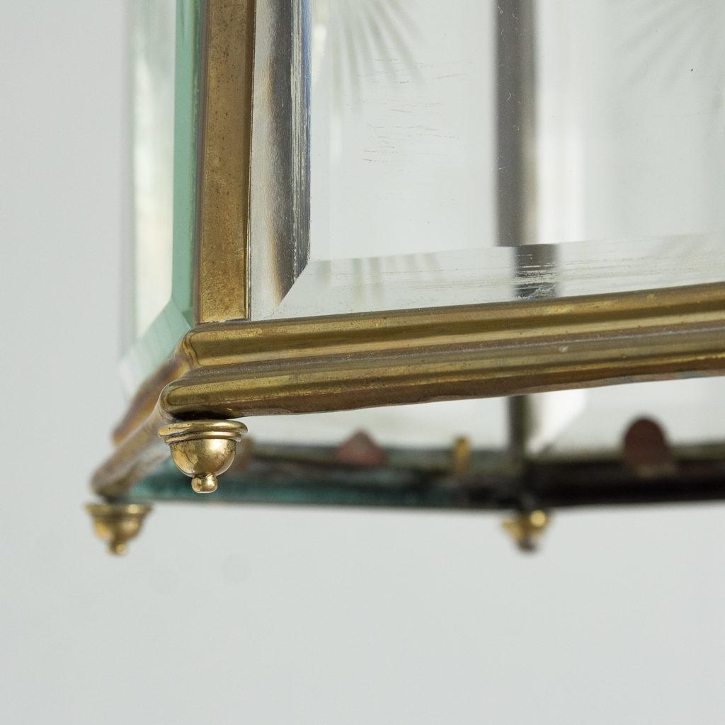 Georgian style brass hall lantern,-135549