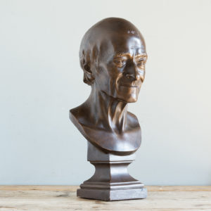 Plaster portrait of bust of Voltaire,