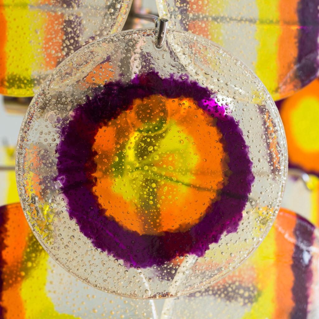 coloured acrylic discs