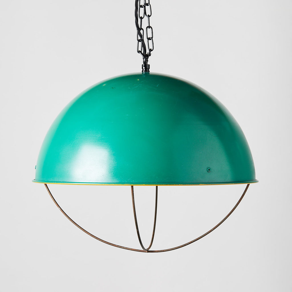 Reclaimed industrial caged pendant light,-0