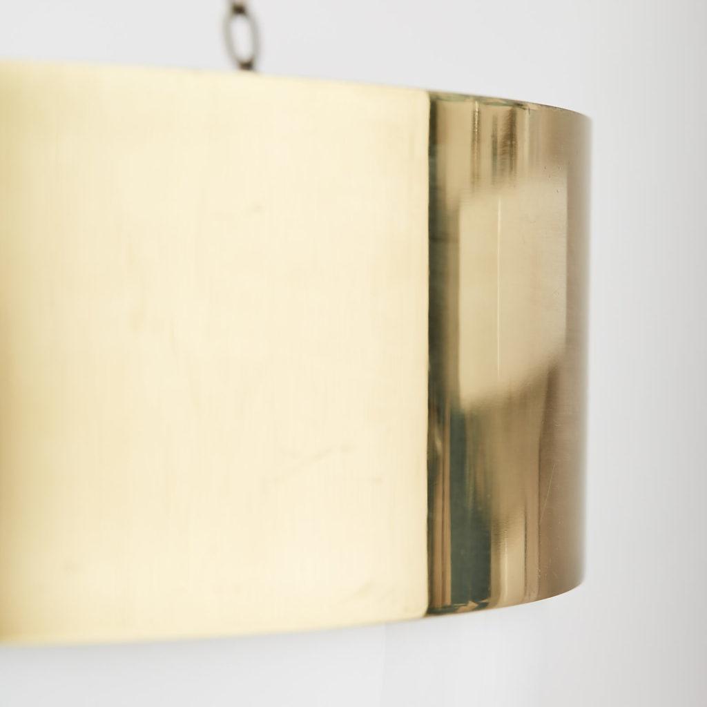Reclaimed brass hemisphere pendant light,-128048