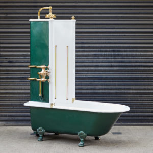 Late Victorian Canopy bath,-0