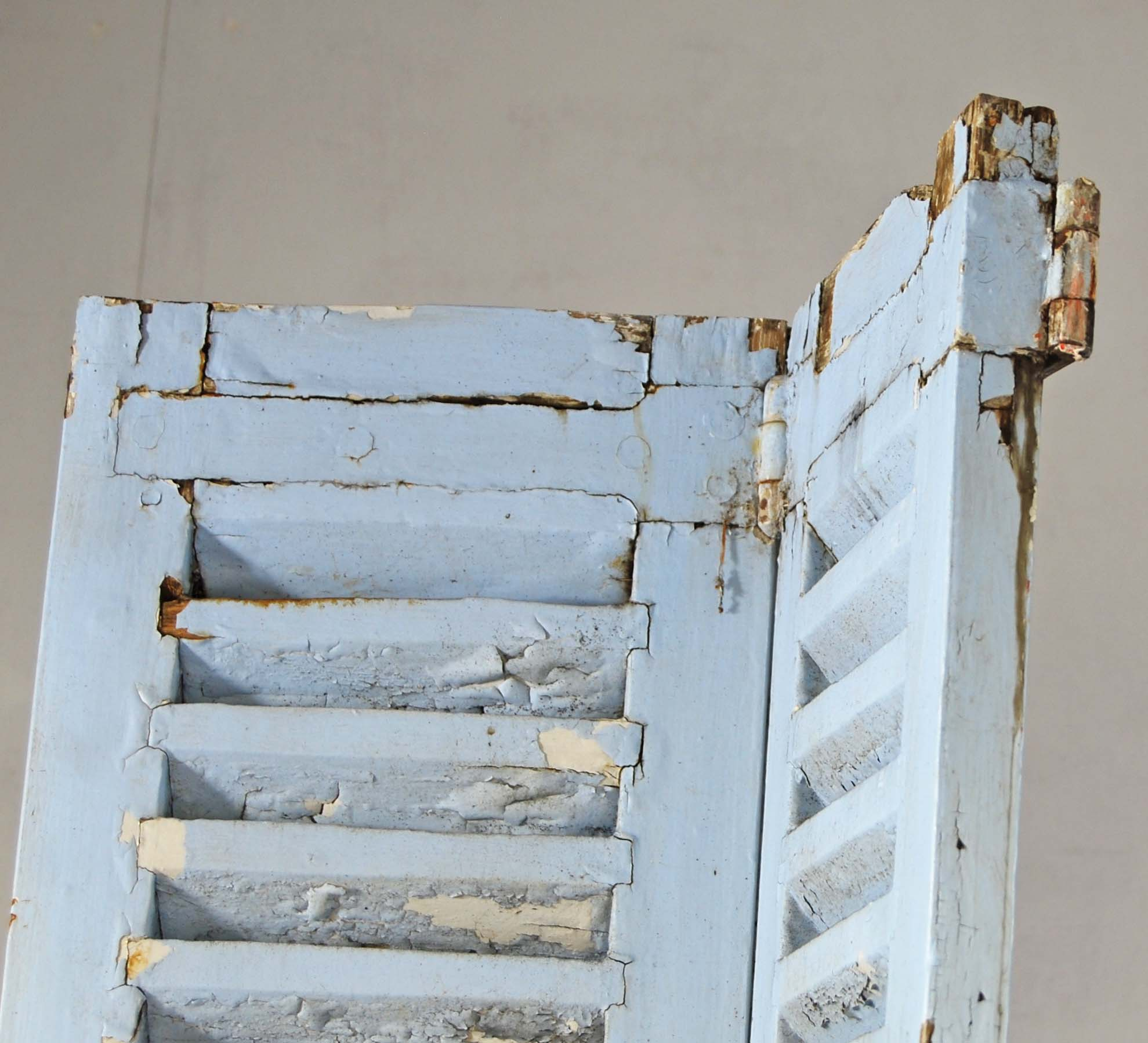 A pair of French painted oak shutters-128266
