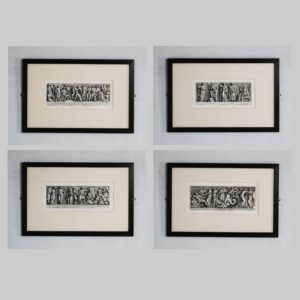 A set of eight framed antiquarian engravings-0