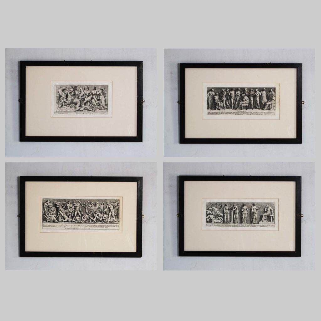A set of eight framed antiquarian engravings-128268