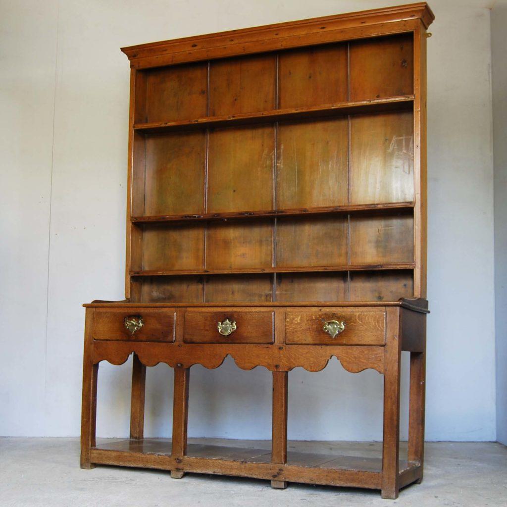 A small oak and deal potboard dresser-0