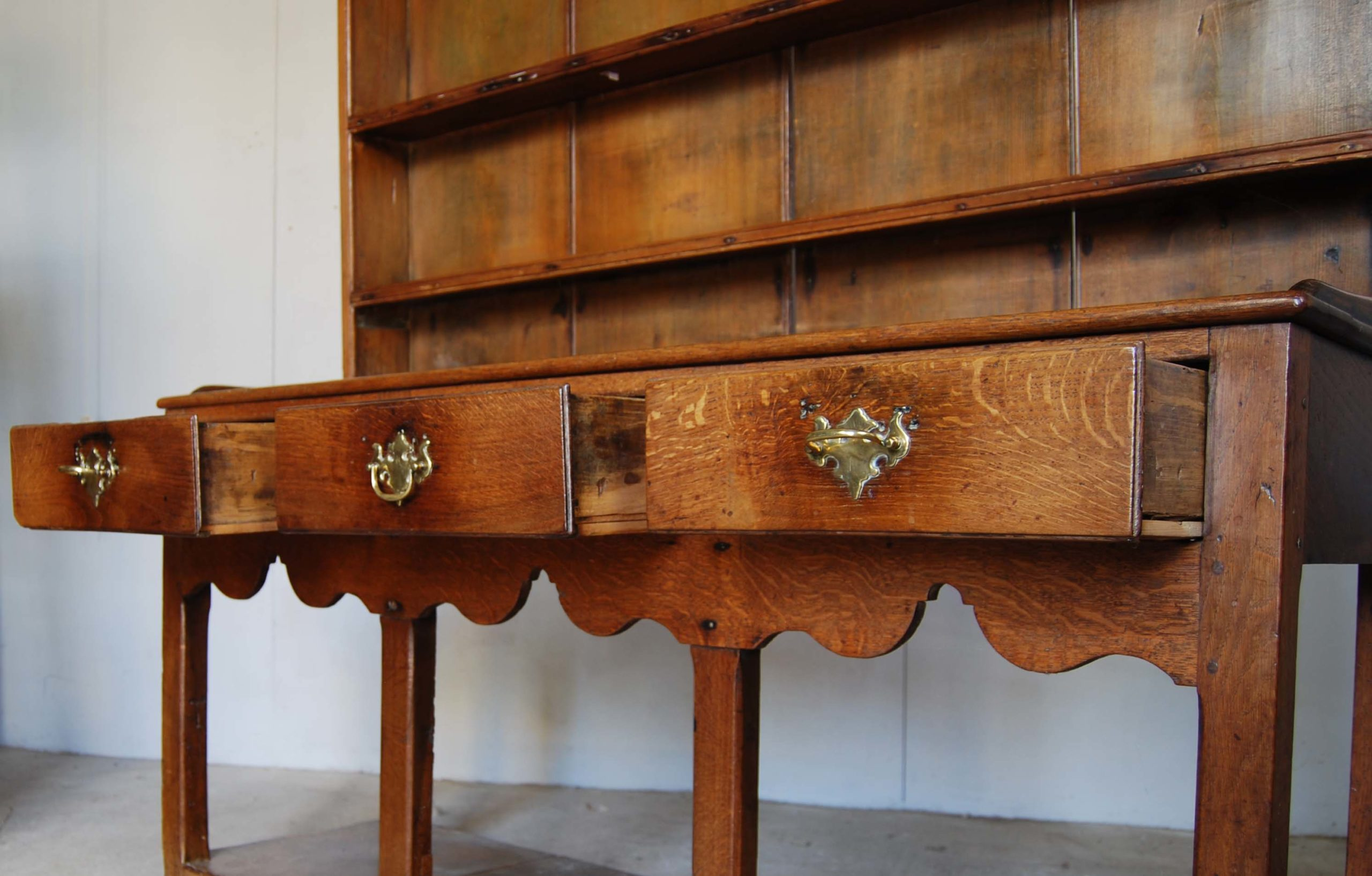 A small oak and deal potboard dresser-128514