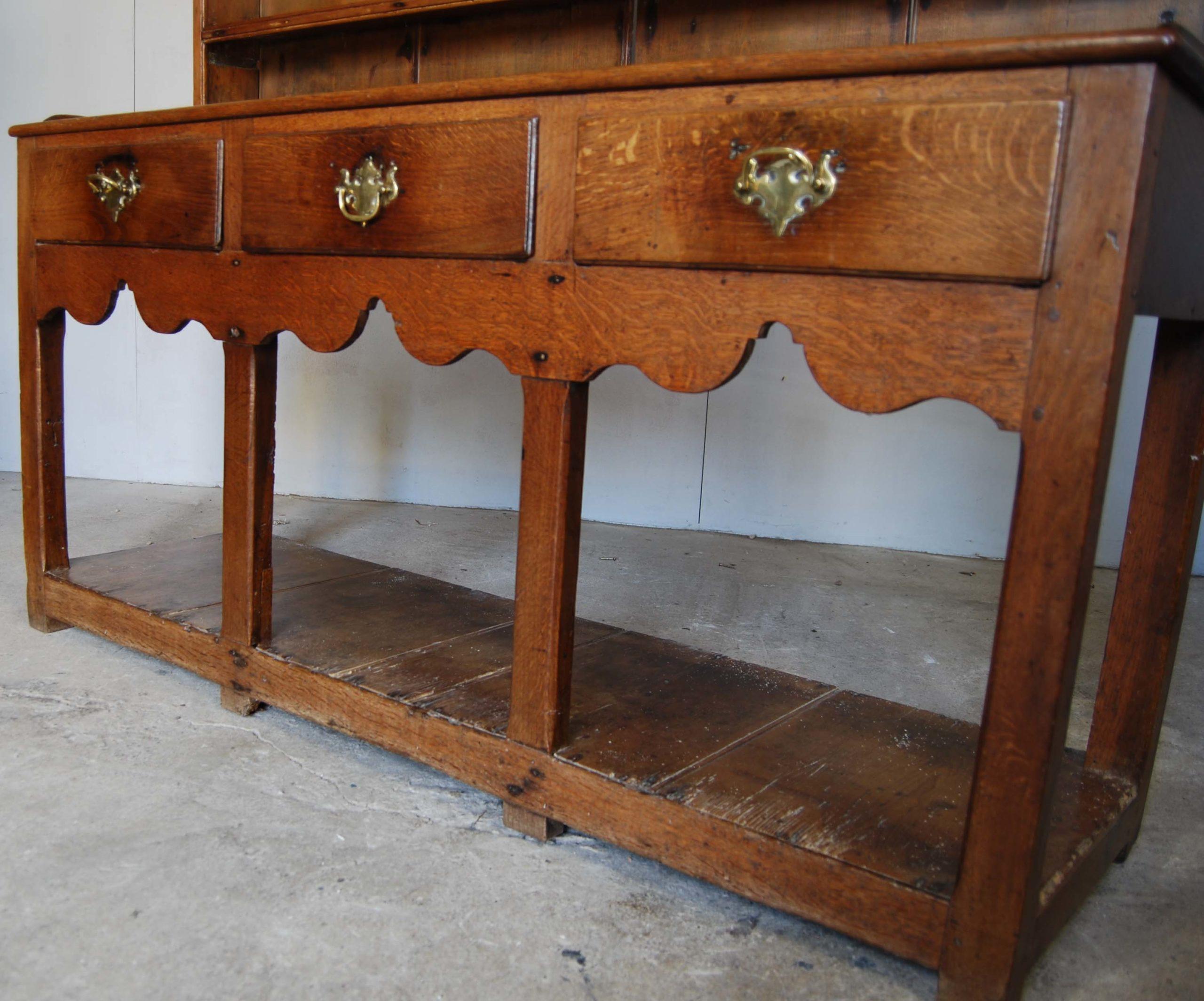 A small oak and deal potboard dresser-128515