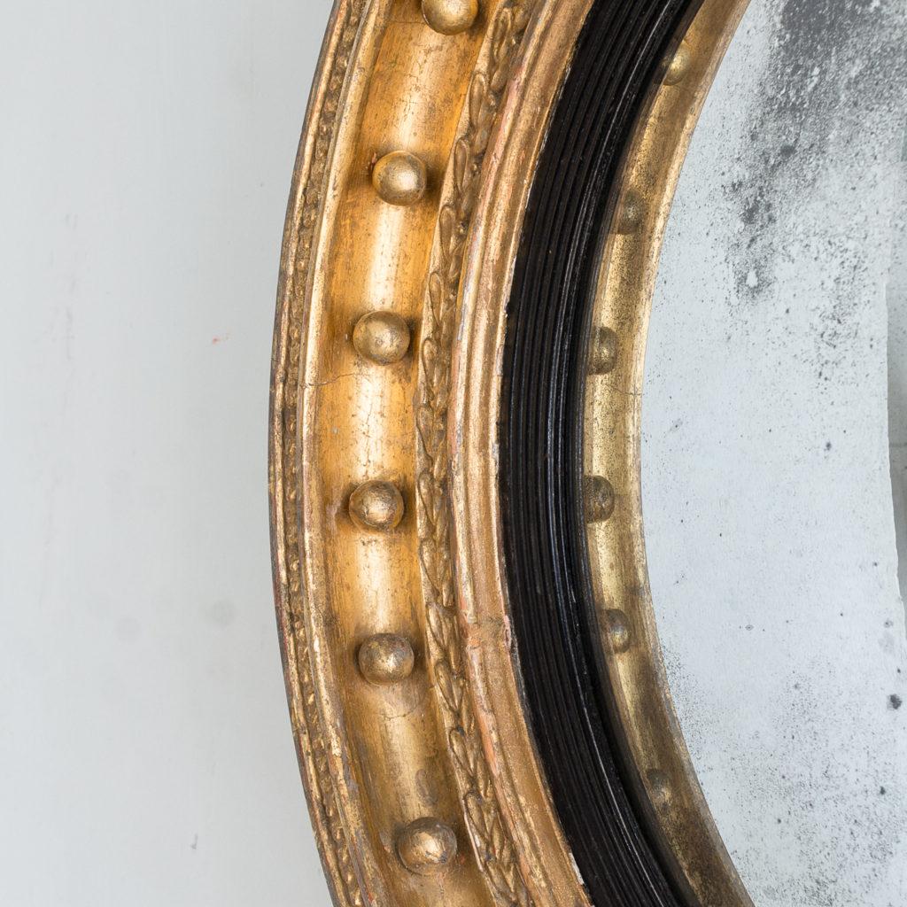 Regency gilt convex mirror,-137617