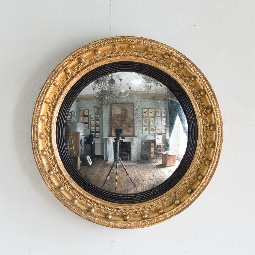 Regency gilt convex mirror,