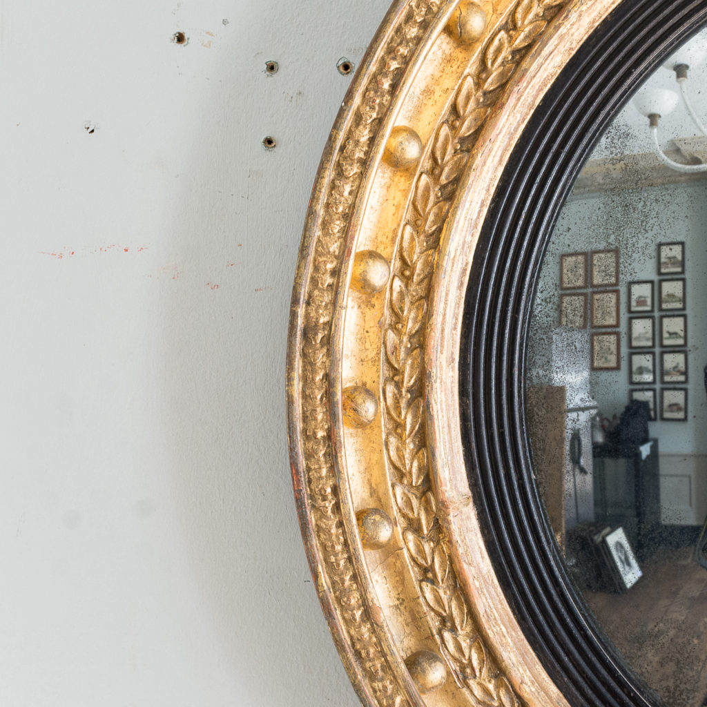 Regency gilt convex mirror,-137618