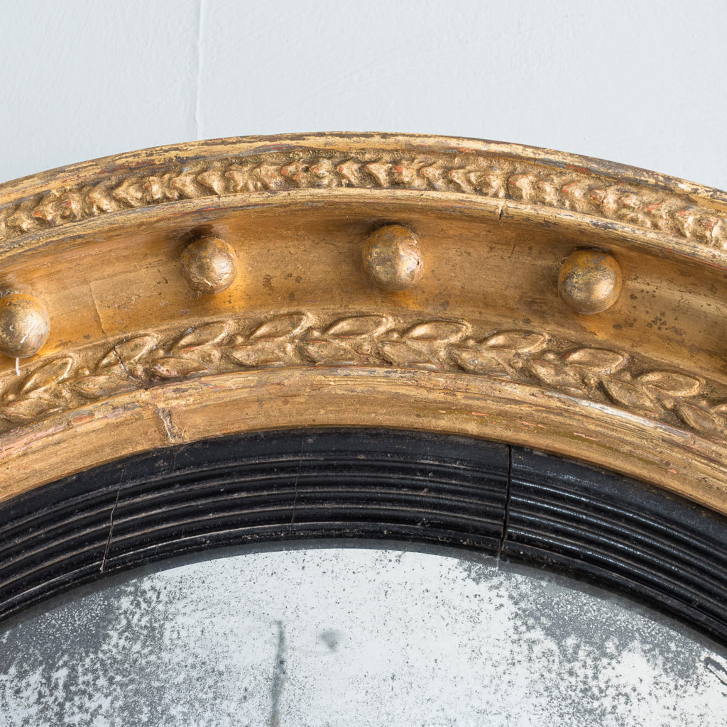 Regency gilt convex mirror,-137620