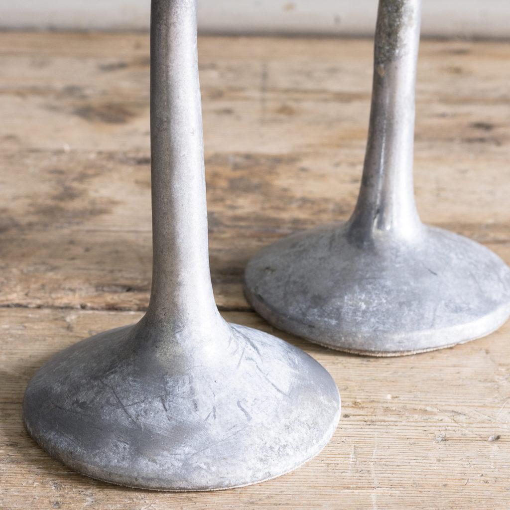 Pair of 1970s cast aluminium candelabra,-128259
