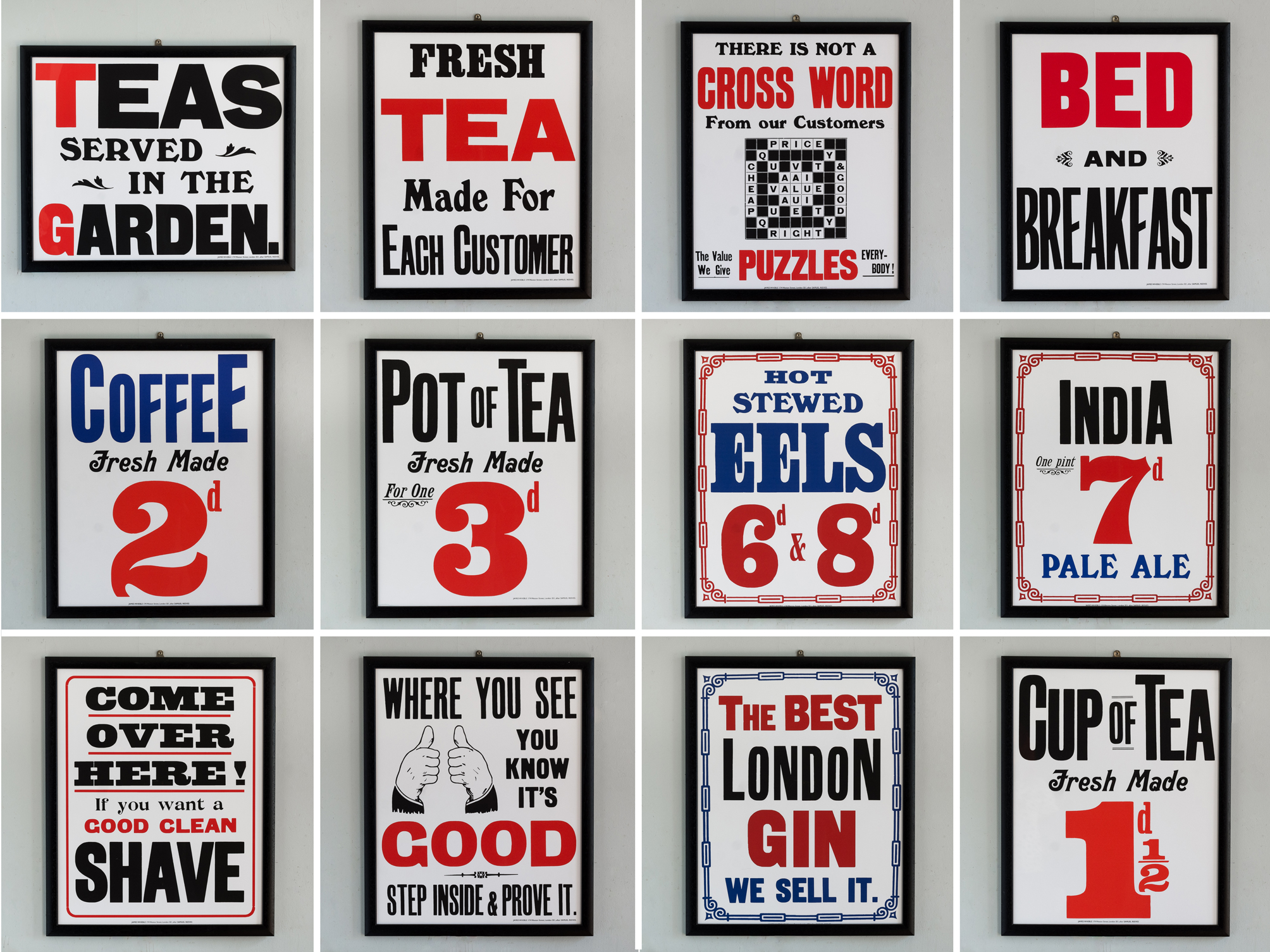 Reproduction London Trade Posters