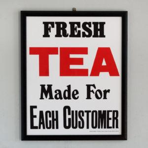 Fresh Tea made for each Customer