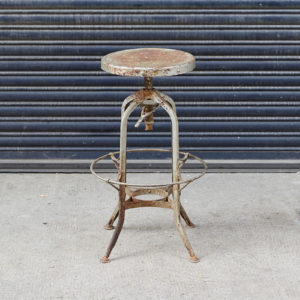 Reclaimed factory stool,-0