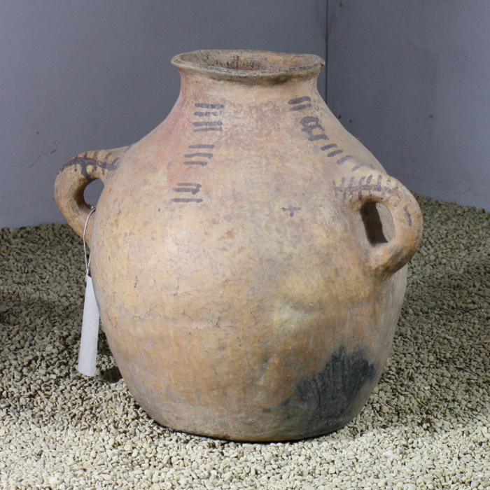 terracotta milk jar