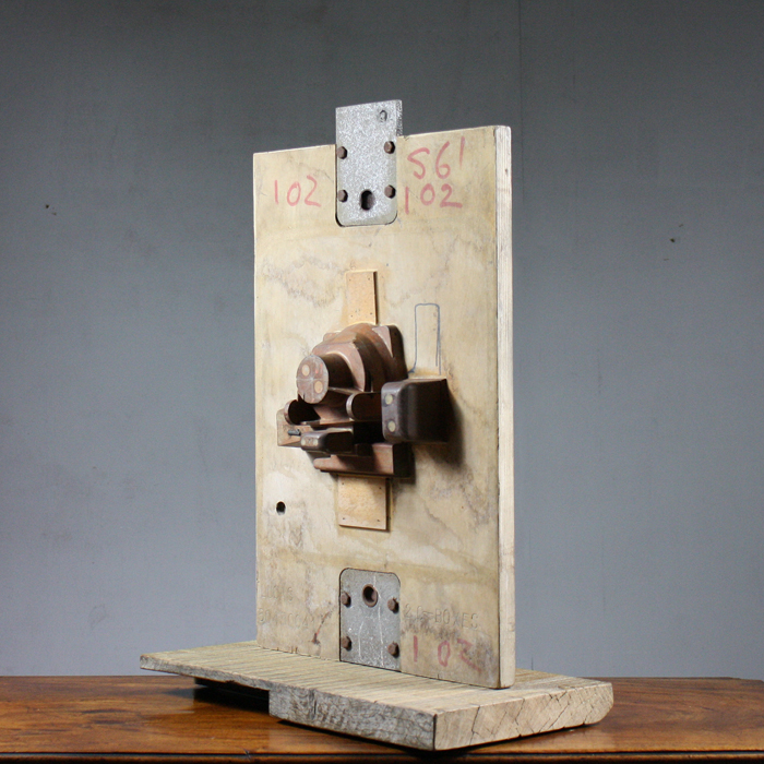 An English carved hardwood industrial mould,-128580