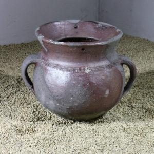 A small Charentaise stoneware salting jar,-0