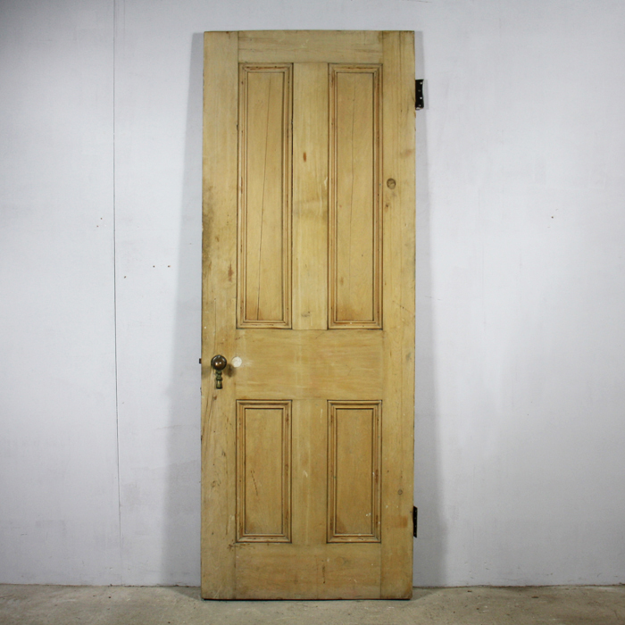 four-panelled painted pine door