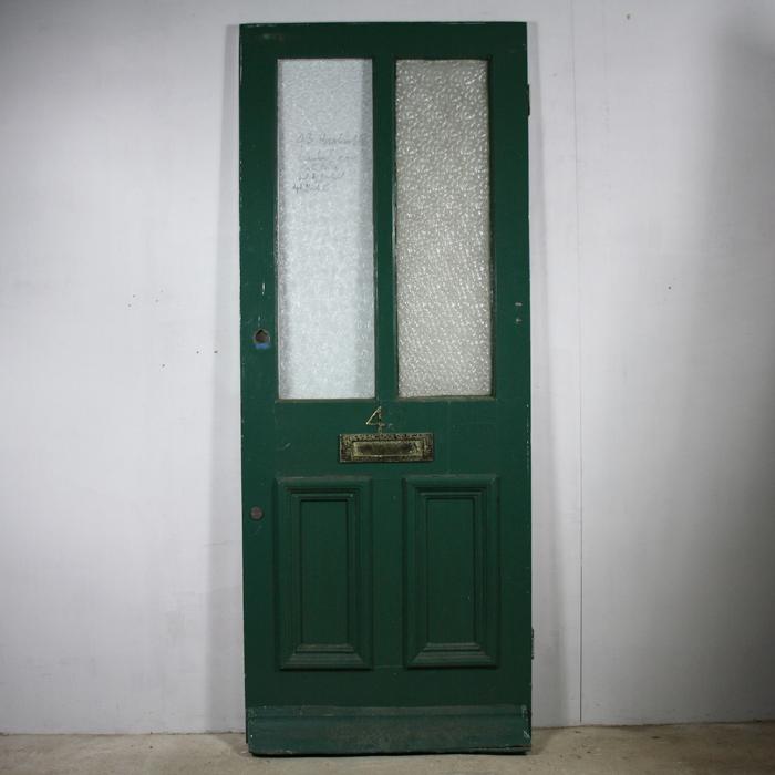 part glazed front door