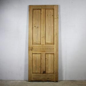 four-panelled pine door