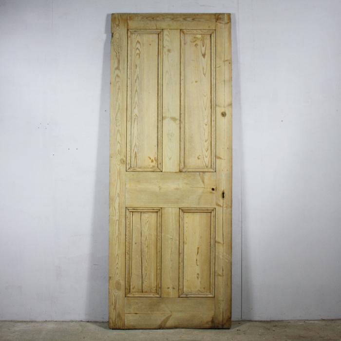 four-panelled pine door,