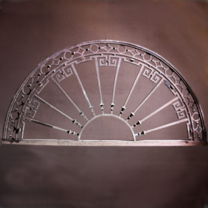 Bronze fanlight window