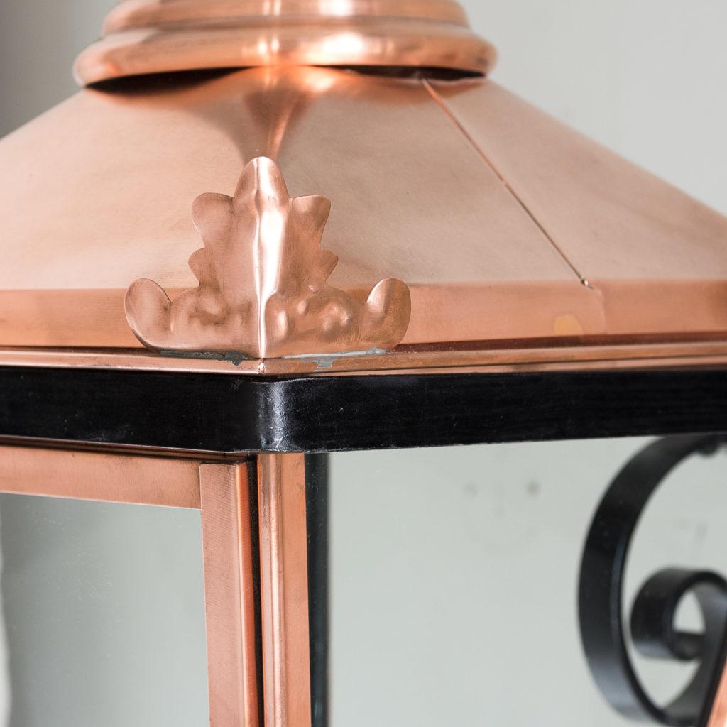 Small Victorian style copper Winsor lantern,-129402