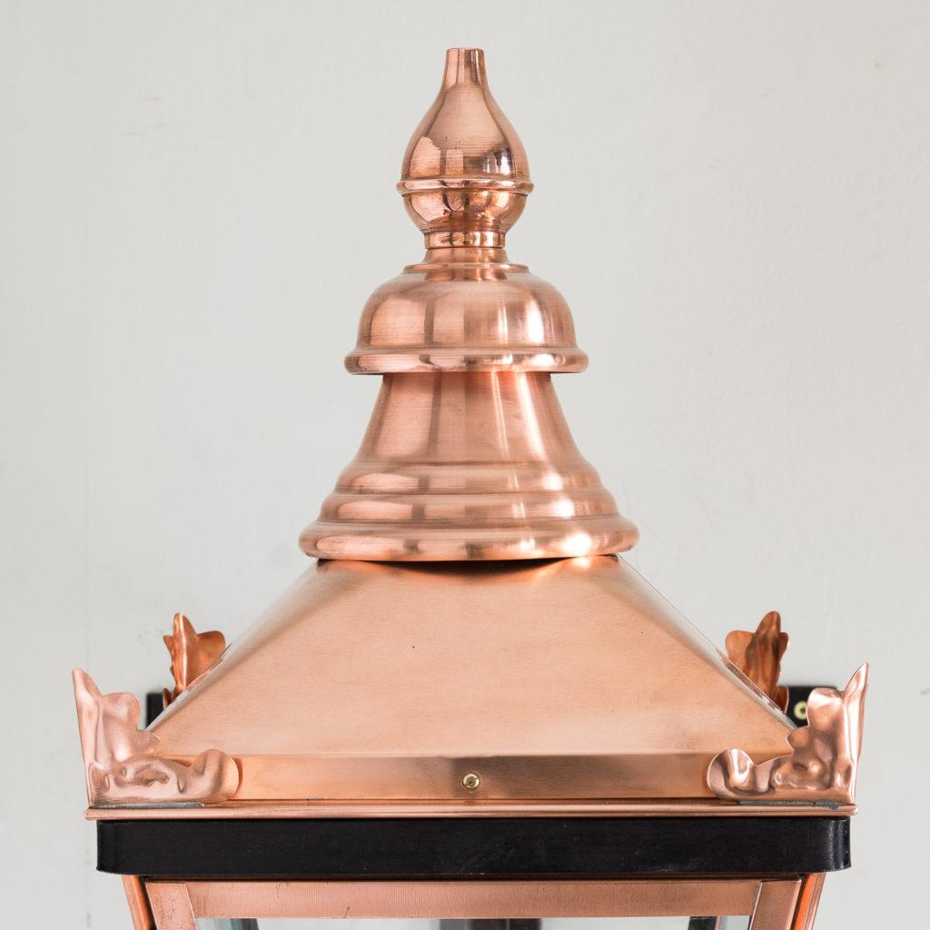 Small Victorian style copper Winsor lantern,-129403