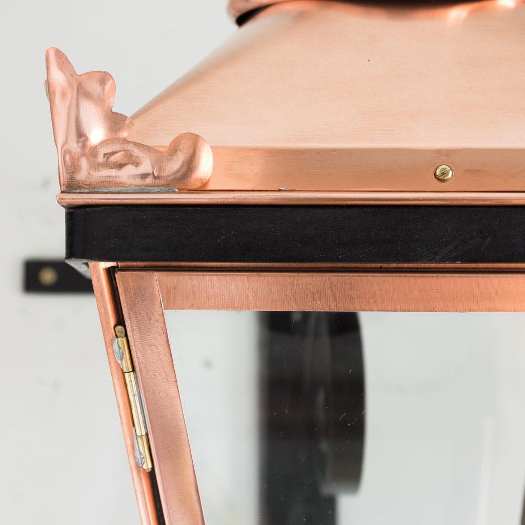 Small Victorian style copper Winsor lantern,-129404