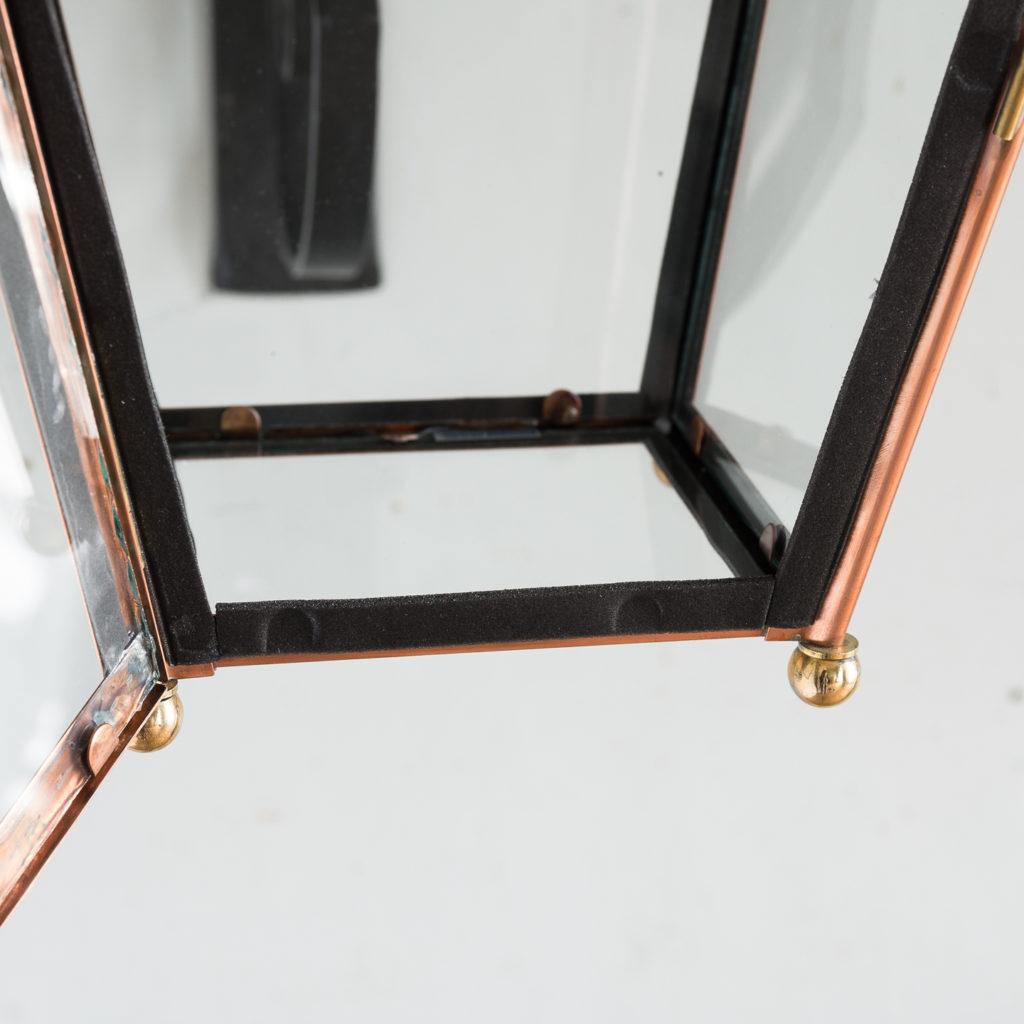 Small Victorian style copper Winsor lantern,-129405