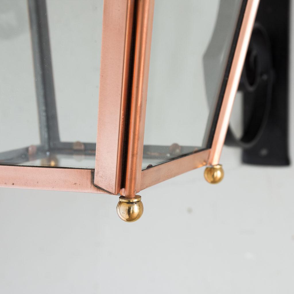 Small Victorian style copper Winsor lantern,-129406