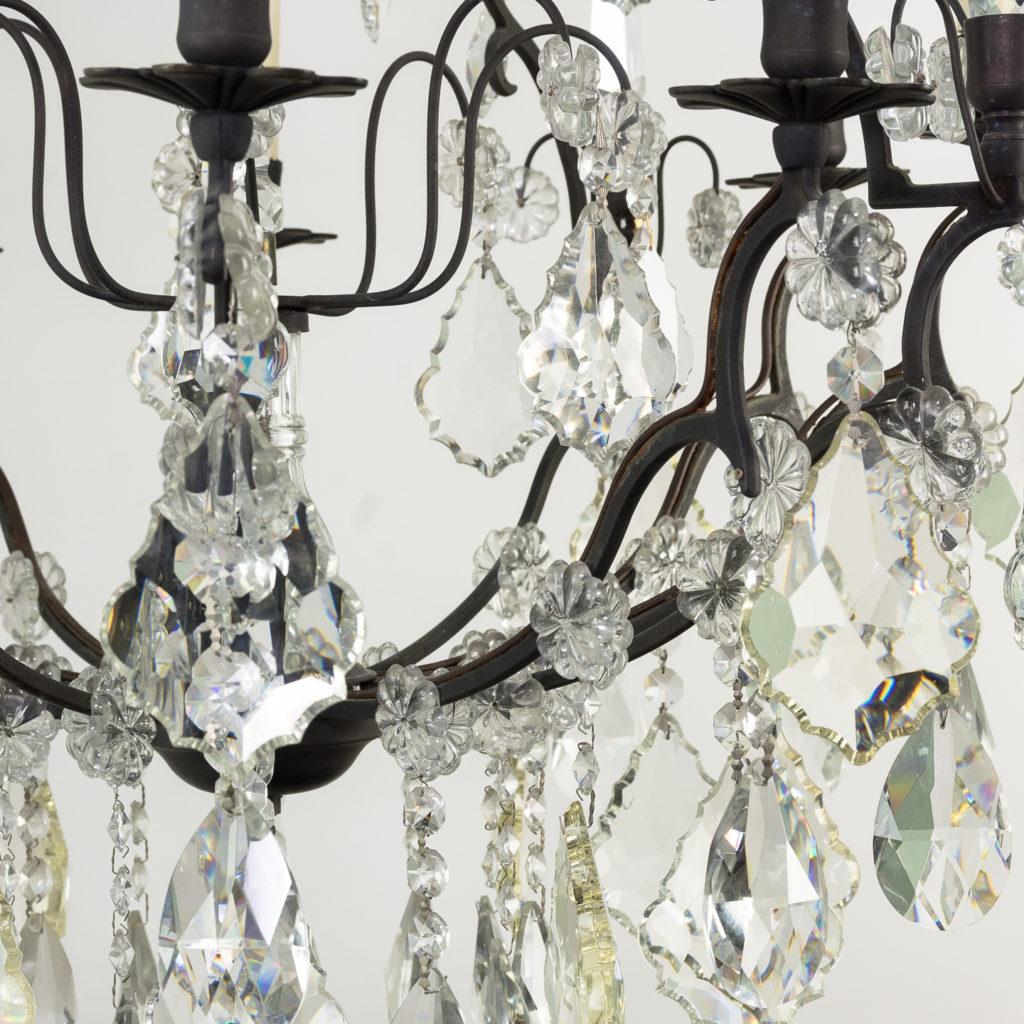 Mid twentieth century glass birdcage chandelier,-129928