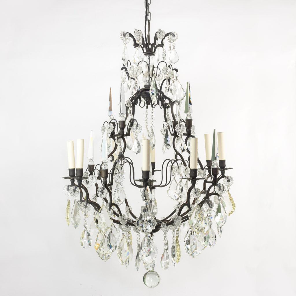 Late nineteenth century birdcage chandelier,