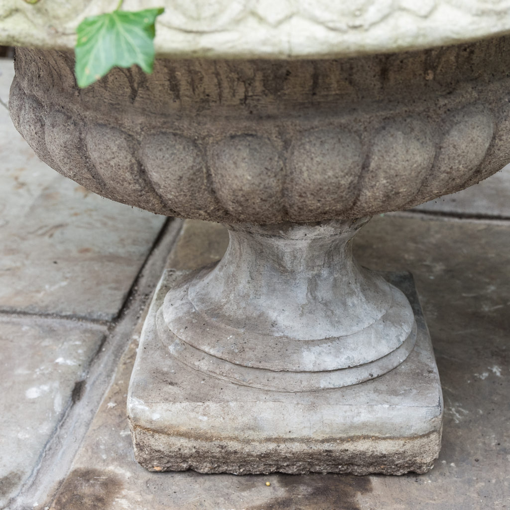 Composition stone tazza urn,-129414