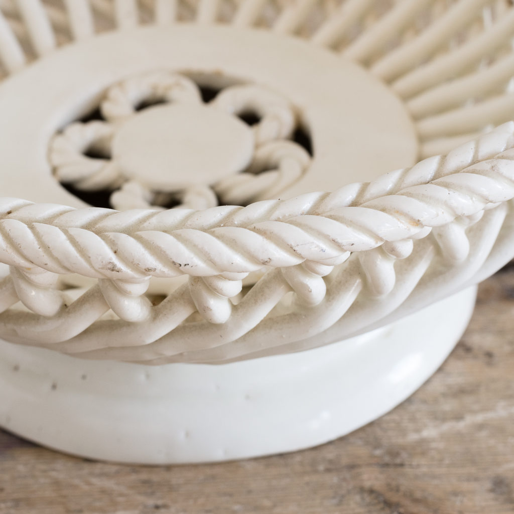 French woven porcelain fruit dish,-130054