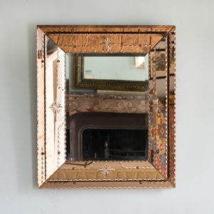 1940s Italian two-tone wall mirror