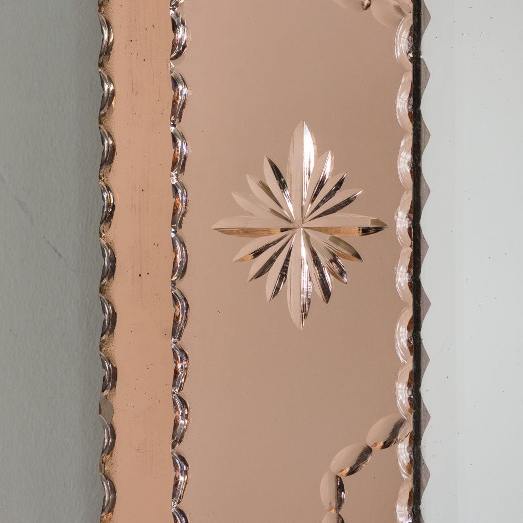 1940s Italian two-tone wall mirror,-128549