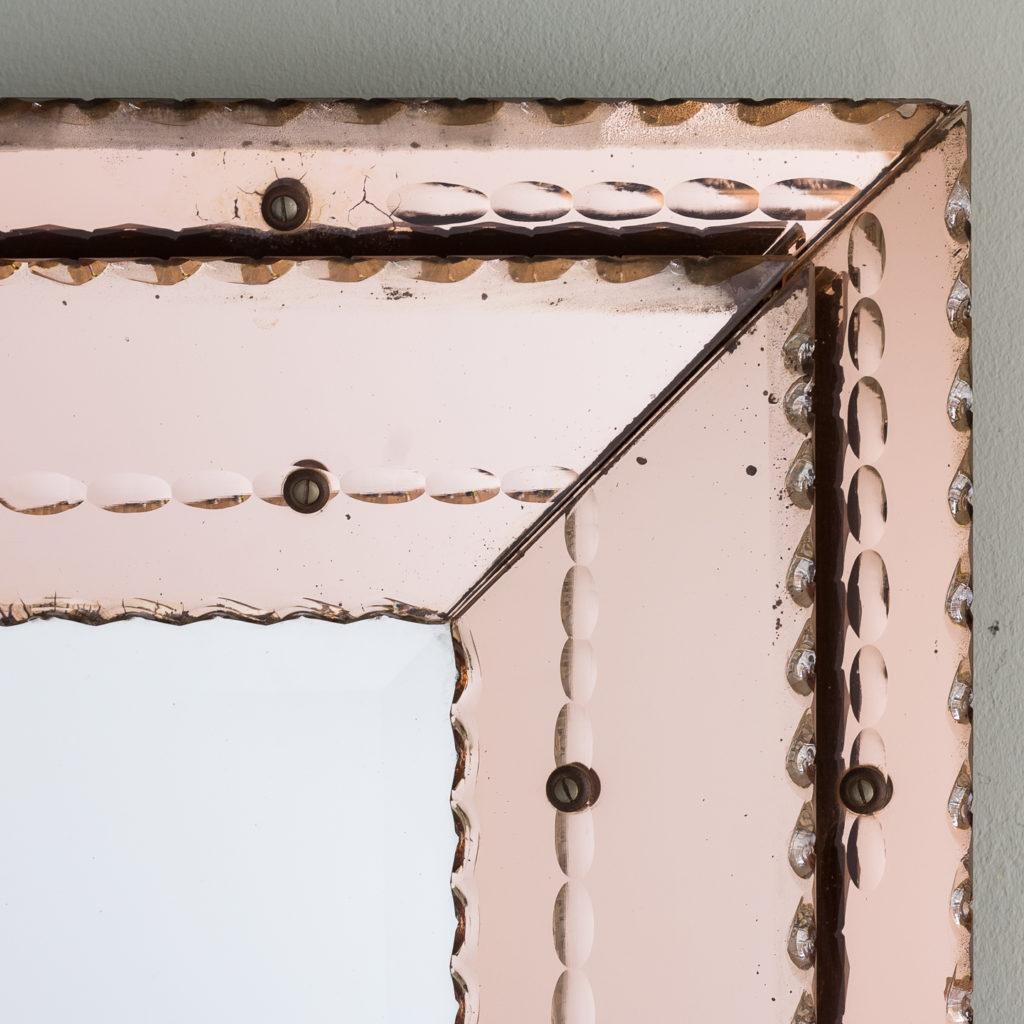 peach glass double frame