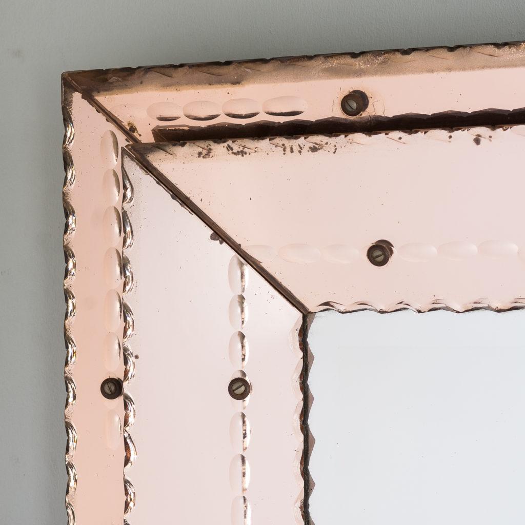 1940s Italian two-tone wall mirror,-128553