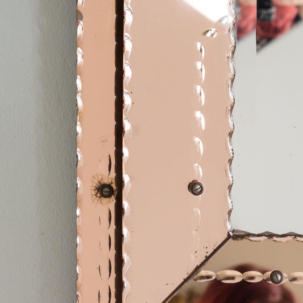 1940s Italian two-tone wall mirror,-128555