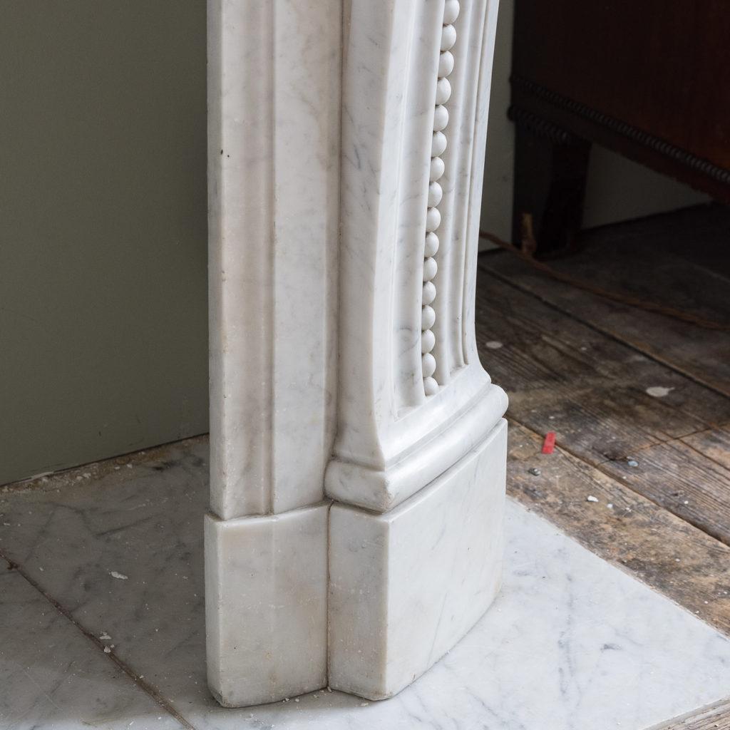 Louis XVI style Carrara marble chimneypiece,-128869
