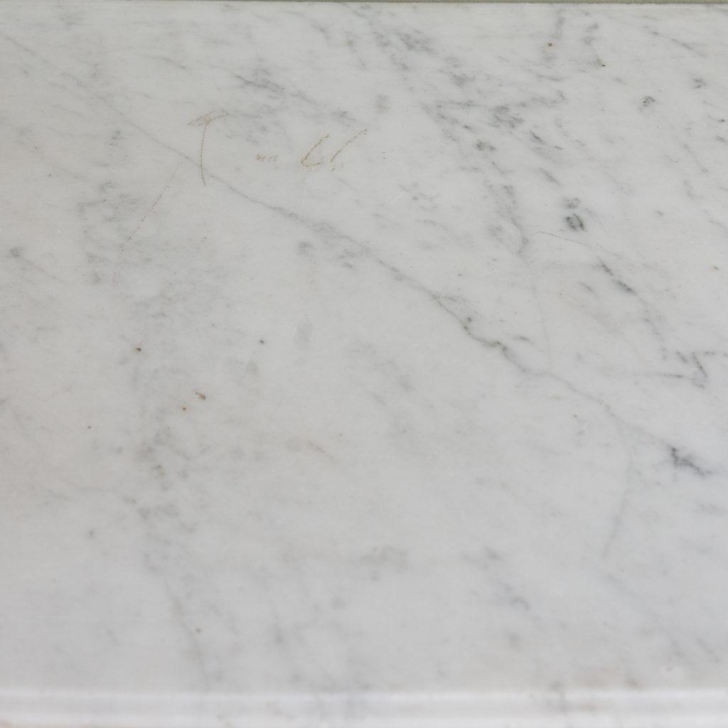 Louis XVI style Carrara marble chimneypiece,-128872