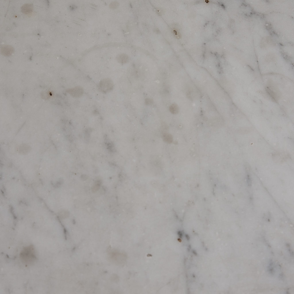 Louis XVI style Carrara marble chimneypiece,-128875