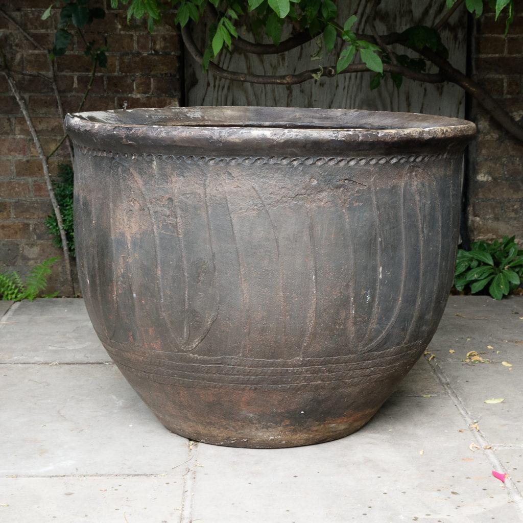 Large nineteenth century ironstone vat,