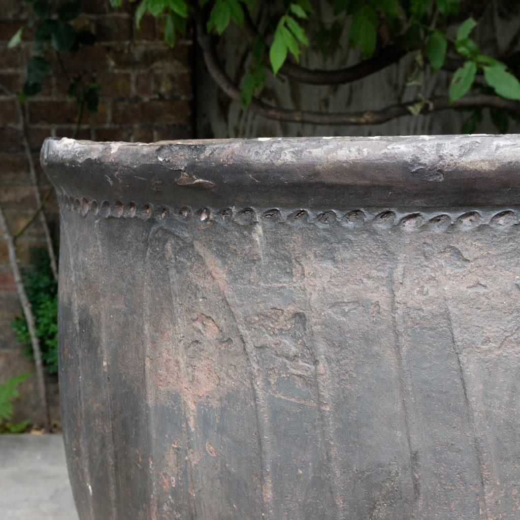 Large nineteenth century ironstone vat,-129977