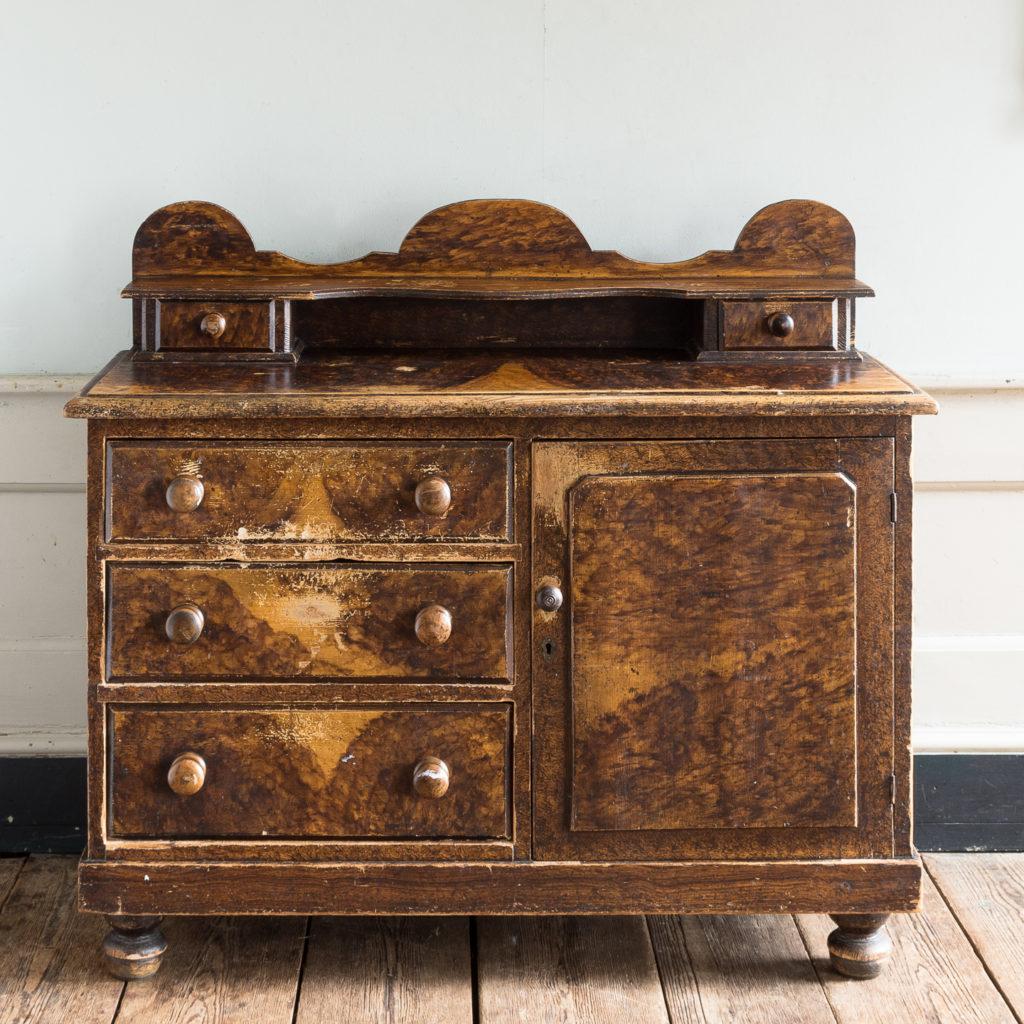 Scumble glazed Lincolnshire dresser,