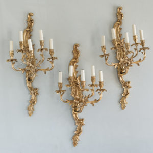 Large gold plated Louis XV style appliques,