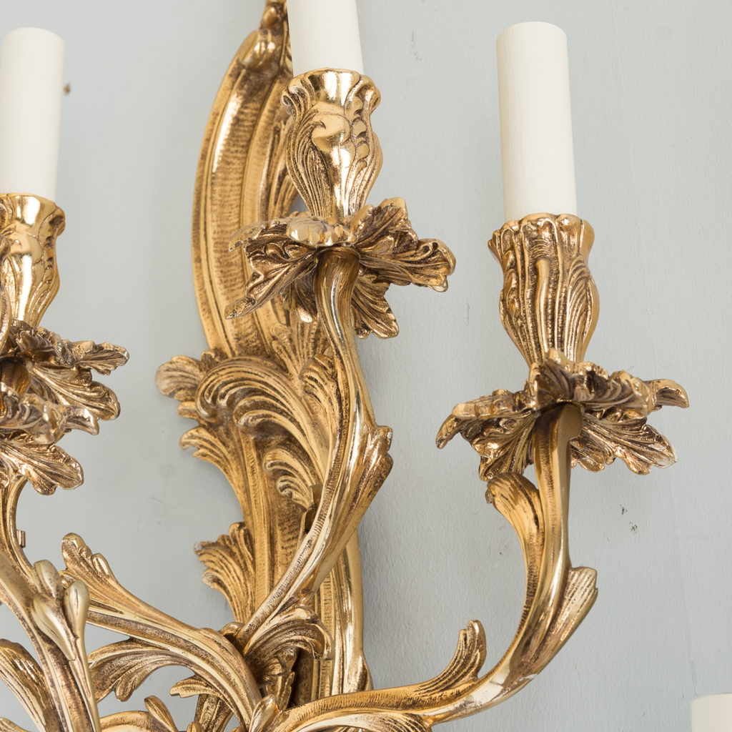 Large gold plated Louis XV style appliques,-129949